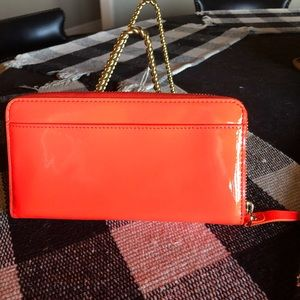 kate spade Bags - Kate Spade Orange Patent Multi-compartment Wallet
